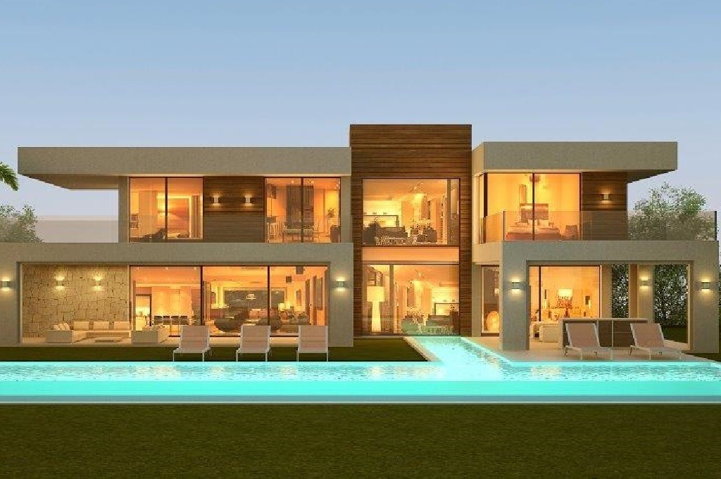 5 bedroom pure luxury villa located right on the golf course. Ideal for discerning people seeking tranquillity, exclusivity and privacy in one of the best areas of Nueva Andalusia.