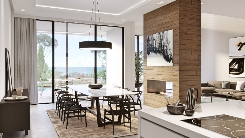 5 Bed Boutique Villa Development located in Marbella with panoramic sea views and full golf course views.